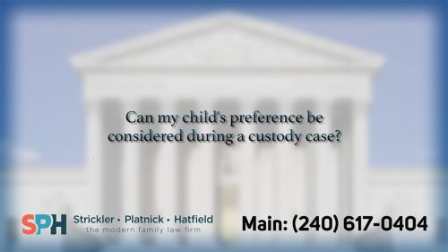 Can my child's preference…